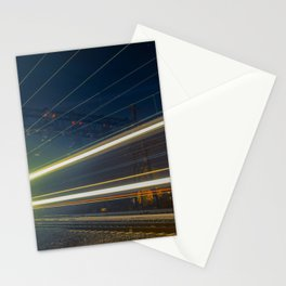 Night Train Abstract Night Photograph Stationery Cards