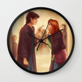 """""""I'd Just As Soon Kiss The Giant Squid!"""" Wall Clock"""