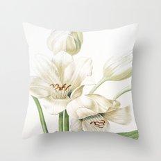 VI. Vintage Flowers Botanical Print by Pierre-Joseph Redouté - Crinum Jagus Throw Pillow