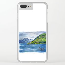 Loch Ness (with Nessie) Clear iPhone Case
