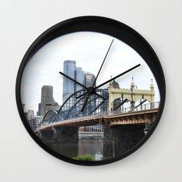 The Smithfield Bridge- Pittsburgh Wall Clock