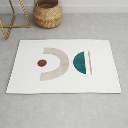 Abstract Geometric 04, Scandinavian Digitial Shapes Rug