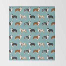 Australian Shepherd owners dog breed cute herding dogs aussie dogs animal pet portrait hearts Throw Blanket
