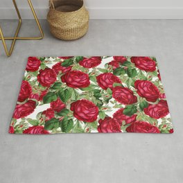 Crimson Rose Bower Rug
