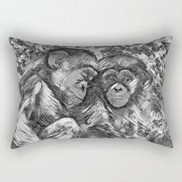 AnimalArtBW_Chimpanzee_20170601_by_JAMColorsSpecial Rectangular Pillow