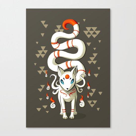 Long Tail Fox Canvas Print