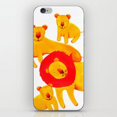 Lion Family iPhone Skin