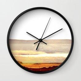 Abstract Desert Landscape, Modern Southwest Wall Clock