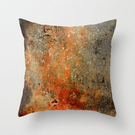 Rust Texture 70 Throw Pillow