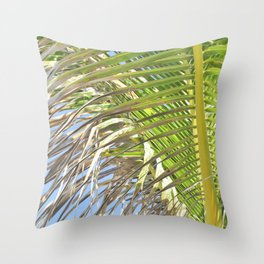 Under the Palm Tree Throw Pillow