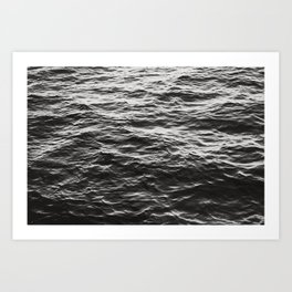 Crumpled Waters Art Print