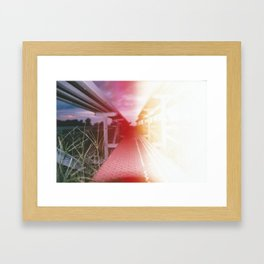 Bleached Bleachers Framed Art Print