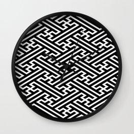 Isometric Sayagata Wall Clock