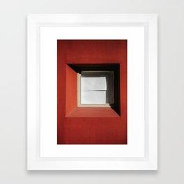 minimal red #2 Framed Art Print