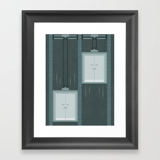 Ups and Downs Framed Art Print