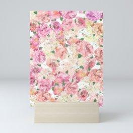 Flowers, Floral Explosion, Floral Pattern, Pink Flowers Mini Art Print