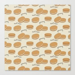 Brown cookies Canvas Print