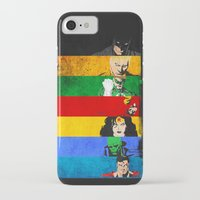 justice league iPhone & iPod Cases featuring A League of Justice by JordanJBDesigns
