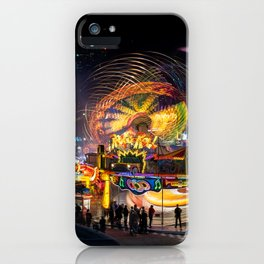 Fairground Attraction panorama iPhone Case