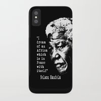 mandela iPhone & iPod Cases featuring Mandela by PsychoBudgie