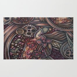 insanity in motion Rug