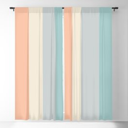 striped color pattern - red , orange, grey, green, Blackout Curtain