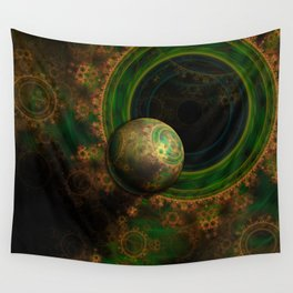 TikTok's Four-Dimensional Steampunk Time Contraption Wall Tapestry