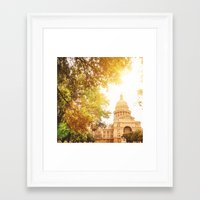 austin Framed Art Prints featuring austin by franckreporter