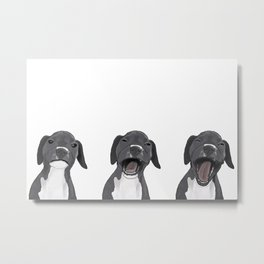 Yawning Dog Metal Print