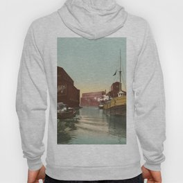 South Branch of the Chicago River at 14th Street 1900 Hoody