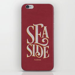 Seaside Typography (Red) iPhone Skin