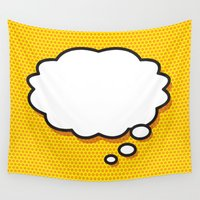 comic book Wall Tapestries featuring Comic Book THINK by The Image Zone