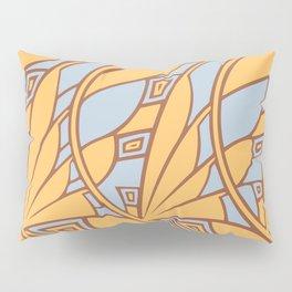 Modern art nouveau tessellations gamboge azure Pillow Sham