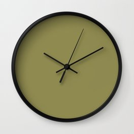 So khaki green Wall Clock