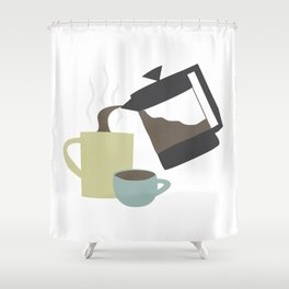 Coffee (French Press) Shower Curtain