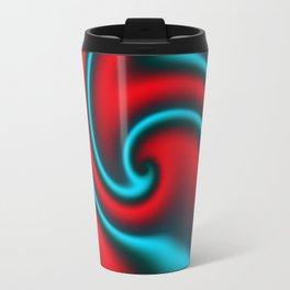 Fire Mint Ribbon Candy Fractal Travel Mug