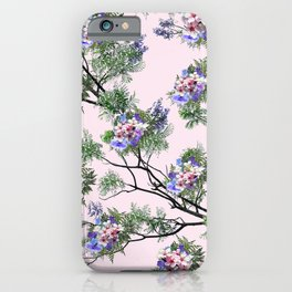 Jacaranda Blooms in purple, pink, rose, on tree-leaves  iPhone Case