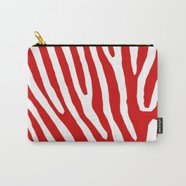Red Zebra Carry-All Pouch