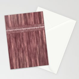 Simple design in metallic copper look Stationery Cards