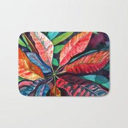 Colorful Tropical Leaves 2 Bath Mat