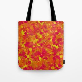 Red, Orange and Yellow Splatters 7368 Tote Bag