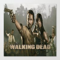 walking dead Canvas Prints featuring Walking Dead by store2u