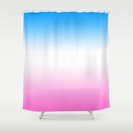 Trans Pride Ombre Shower Curtain