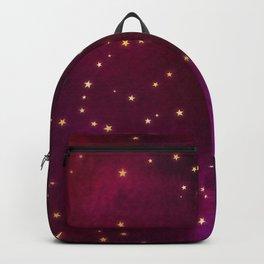 Plum Gold Stars Backpack