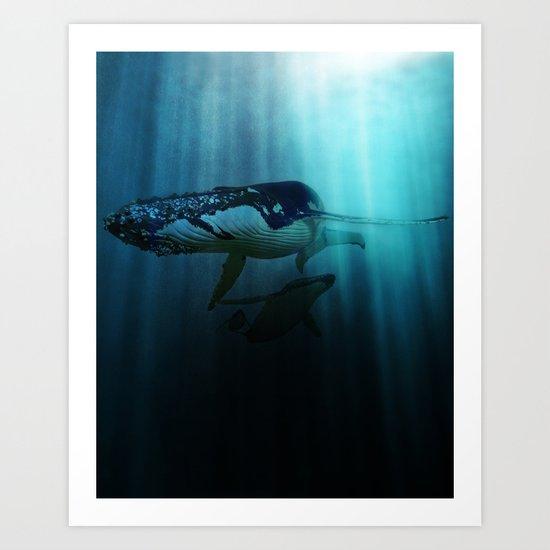 Polar migration Art Print