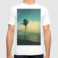 sunset solo Mens Fitted Tee MEDIUM White