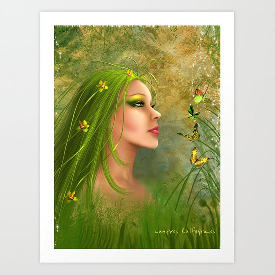 Forrest Angel Art Print
