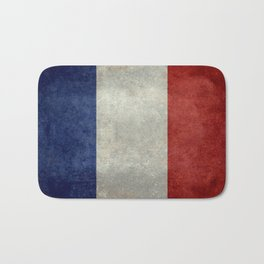 French Flag with vintage textures Bath Mat