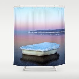 Ice Raft on the Sea Shower Curtain