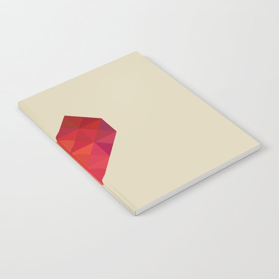 Red Heart Notebook